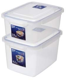 Lustroware Large Sealed Food Storage Container, Set of 2