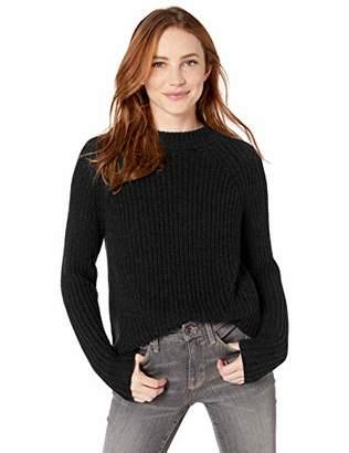 Goodthreads Cotton Half-Cardigan Stitch Mock Neck Sweater Pullover, Light Grey Heather, S