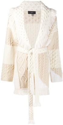 Alanui Knitted Belted Cardi-Coat