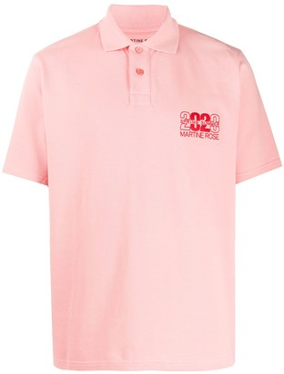 Martine Rose Embroidered Short-Sleeved Polo Shirt
