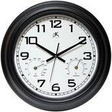 """Infinity Instruments Garden 18"""" Metal Outdoor Clock"""