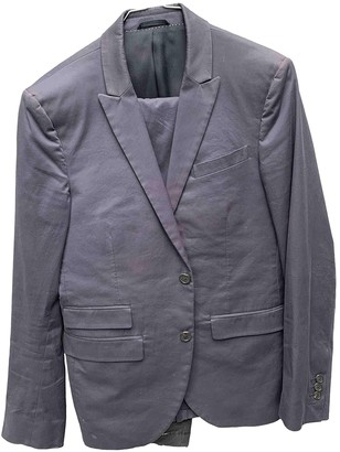 Neil Barrett Navy Cotton Suits