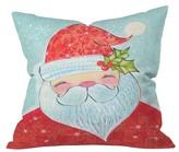 "DENY Designs Red Novelty Cori Dantini Sweet Santa Throw Pillow (16""x16"
