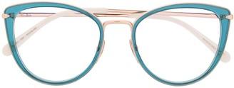 Cat Eye Two-Tone Cat-Eye Glasses