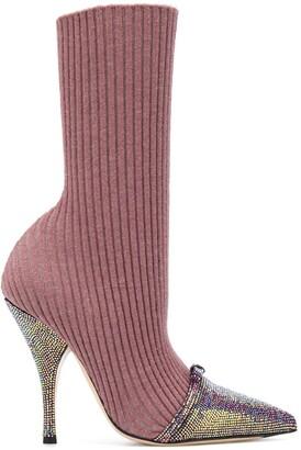 Marco De Vincenzo Sock-Style Stiletto Boots