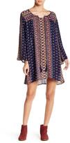Angie Bell Sleeve Split Neck Tunic Dress