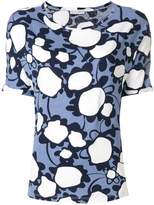 Le Tricot Perugia floral short-sleeve top