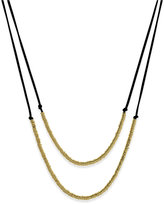 INC International Concepts Imitation Suede Double Row Necklace, Created for Macy's