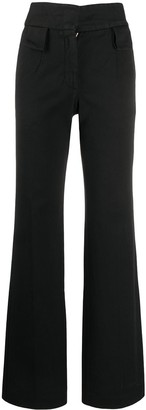 Palm Angels High-Waist Straight-Leg Trousers