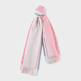 Paul Smith Women's Pink Ombré Lambswool-Cashmere Scarf