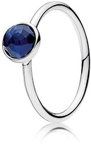 Pandora Ring - Sterling Silver & Glass September Birthstone Droplet