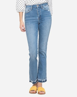 Express Flying Monkey High Waisted Button Fly Straight Jeans