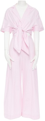 Petersyn Pink Cotton Jumpsuit for Women