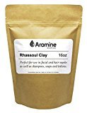 Rhassoul Clay (Ghassoul) Powder - 16oz - Natural Face Mask and Skin Care, Detoxifying and Rejuvenating Clay