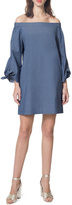 Donna Morgan Off Shoulder Chambray Dress
