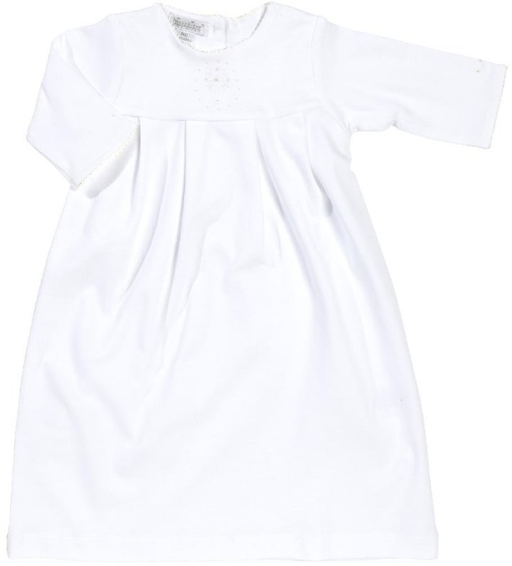 Kissy Kissy Hope's Cross Daygown W/ Embroidered Cross - White-NB