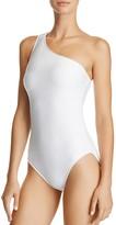 Lauren Ralph Lauren Ottoman Asymmetric One Piece Swimsuit