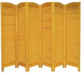 "Oriental Furniture 72"" Classic Venetian Room Divider in Honey Number of Panels: 6"