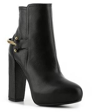 Ralph Lauren Leather Platform Bootie