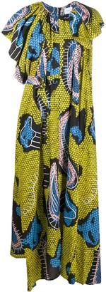 Christian Wijnants Paisley-Print Asymmetric Dress