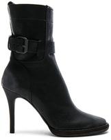 Haider Ackermann Buckle Leather High Heel Boots in Black.