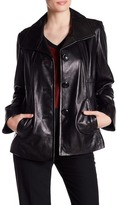 Ellen Tracy Genuine Lamb Leather Jacket