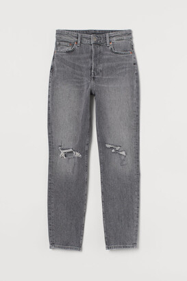 H&M Mom High Ankle Jeans - Gray