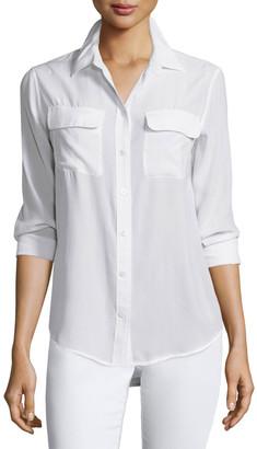 Equipment Slim Signature Long-Sleeve Silk Shirt