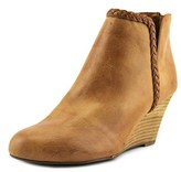 Report Giddi Women Round Toe Synthetic Tan Ankle Boot.