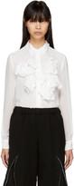 Comme des Garcons Off-white Ruffle Shirt