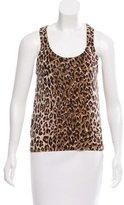 Dolce & Gabbana Leopard Print Cashmere Top