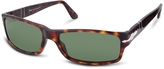 Persol Arrow Signature Rectangular Plastic Sunglasses