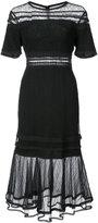 Jonathan Simkhai sheer panel dress - women - Nylon/Rayon - 2
