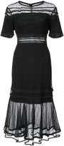 Jonathan Simkhai sheer panel dress - women - Nylon/Rayon - 6