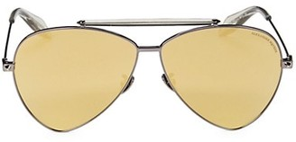 Alexander McQueen 63MM Aviator Sunglasses