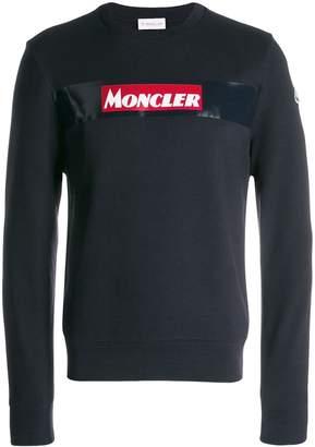 Moncler printed logo sweatshirt
