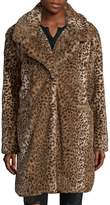 C&C California Women's Faux-Fur Cheetah Coat