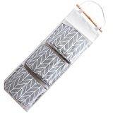 HENGSONG 3 Grid Hanging Storage Pockets Over Wall Door Bags Toiletry Organizers Bag (Grey)