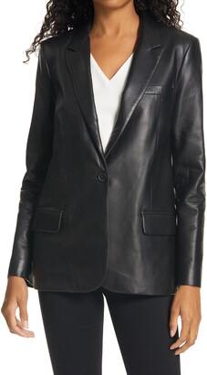 Nili Lotan Don Lambskin Leather Jacket