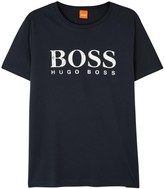 Boss Tommi Navy Printed Cotton T-shirt