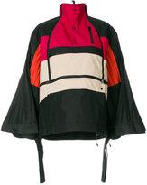 Facetasm pleated sleeves oversized jacket