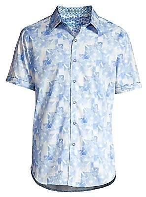 Robert Graham Men's Athens Printed Stretch-Cotton Shirt