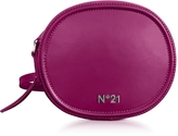 N°21 Bluette Leather Tambourine Crossbody Bag w/Metallic Embossed Logo