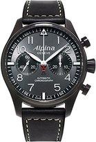 Alpina Men's AL-860GB4FBS6 Startimer Pilot Analog Display Automatic Self Wind Black Watch