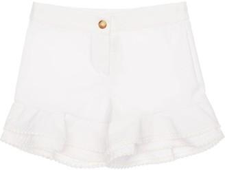 La Stupenderia Seersucker Cotton Blend Shorts