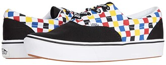 Vans Kids ComfyCush Era (Big Kid) ((Checkerboard) Multi/Black) Boy's Shoes