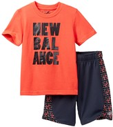 New Balance Graphic Tee & Short Set (Baby & Little Boys)