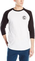 Crooks & Castles Men's Knit Baseball Raglan Crown, Black/White