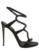 Giuseppe Zanotti - 120mm Silk And Swarovski Sandals
