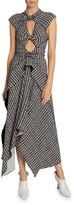 Proenza Schouler Cap-Sleeve Tie-Dye Dress